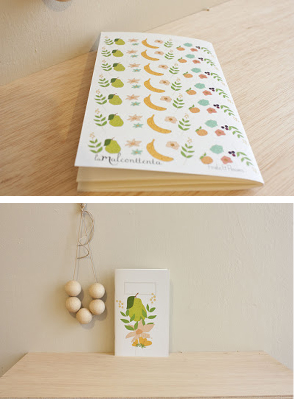 notebook fruits & flowers