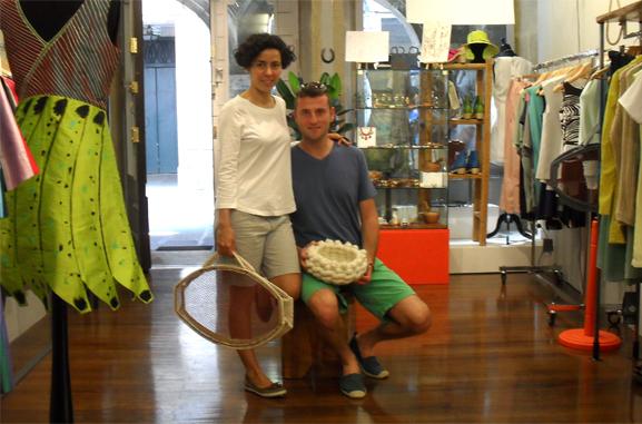 Cestos lana eladiz Artesania gallega regalos