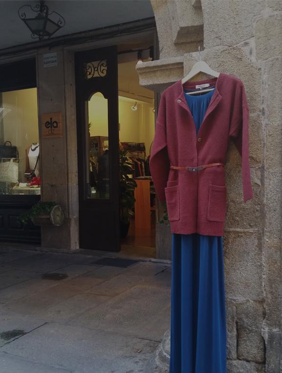 vestido Elisa Cortés- chaqueta punto