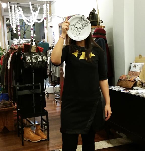 vestido-ladrón de arte-plato cavalinho do demo