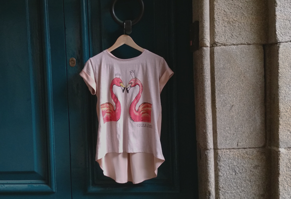 camiseta-devota& lomba-flamingos in love