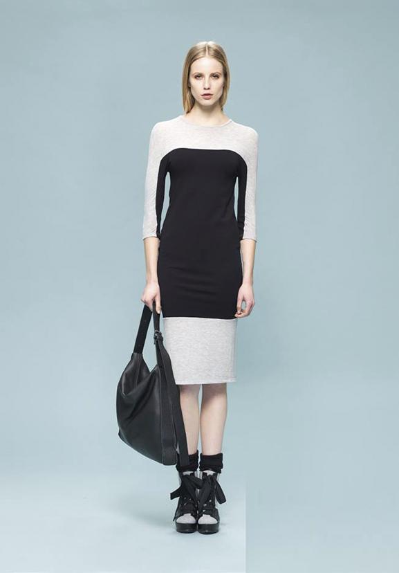 Ionna Kourbela-vestido geométrico