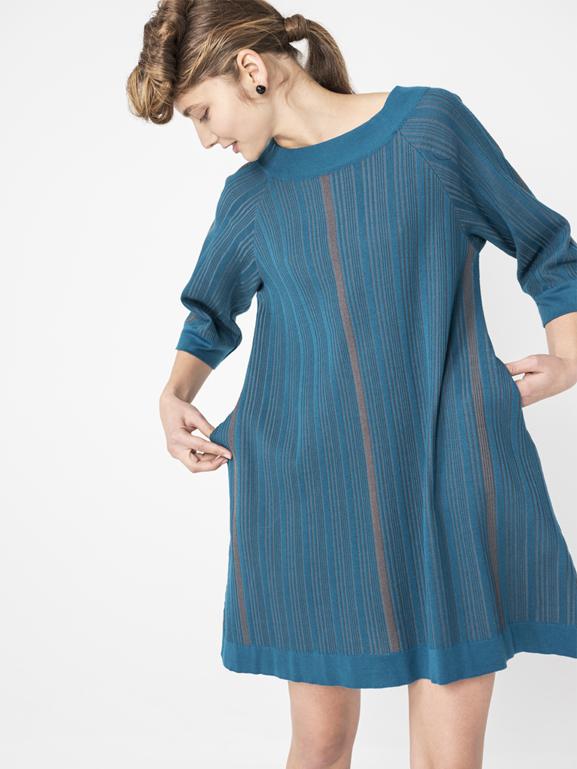 vestido-ioanna kourbela-azul-gris